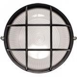 Свет_нак_пг круг с решеткой 60w черн, бел IP54